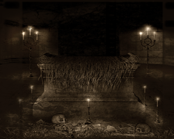 Crypt 2 10x8-Old Movies by BlackDragynStock