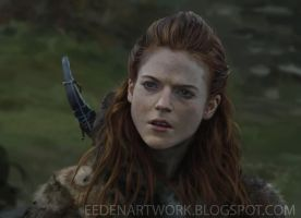 Ygritte Portrait Painting (video with audio) by Eedenartwork