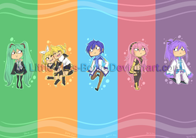 Ani: Vocaloid Bookmarks by Little-Miss-Boxie