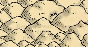 Mountain Detail from Treasure Map by billiambabble
