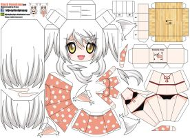 Black Hanekawa  (Joey's Chibi Girls 021) by ELJOEYDESIGNS
