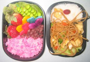 Kamikaze Girls Bento by gargoylekitty