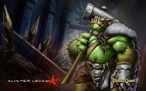 Orc Chieftain by Caveatscoti