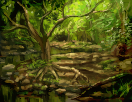Forest speedpaint by Eliminate