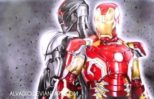 IronMan and Ultron [The Avengers 2: Age of Ultron] by ALVADIO