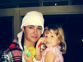 tom with baby girl by ohmonegerie
