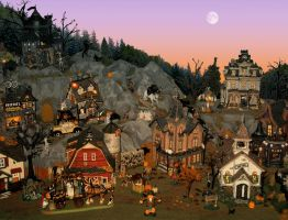 Halloween Village by MiniCarly