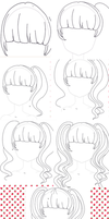 VIDEO:How to draw ANIME GIRL HAIR Tutorial by swordmasterqueen