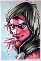 Green Arrow - Copic Marker Drawing by LethalChris