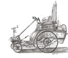 Steampunk Automobile 1 by Zethelius