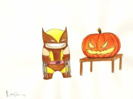 Chibi Wolverine by RickBas