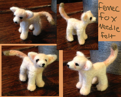 Fennec Fox Needle Felt by the-pink-dragon