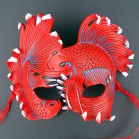 Red Fighting Betta Mask by merimask