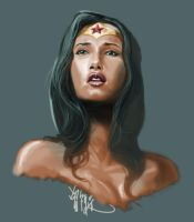 Wonder Woman Sketch by rocketraygun