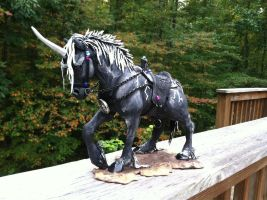 Dark Unicorn Sculpture SOLD by starwolf303