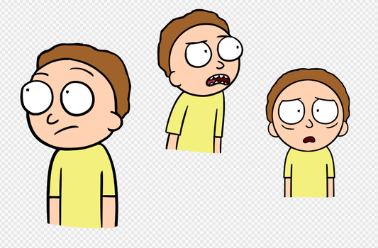 Morty Sketches by CharcoalPhantom