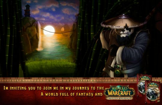 WoW MoP Ad banner by Mauri5io