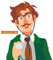 Harvey from Stardew Valley by Soulfoxdemon