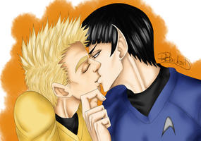 Spock x Kirk- Kiss Me Commander by R-Blackout