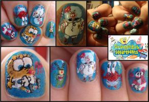 spongebob nails 2 by Ninails