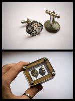 Clockwork Cufflinks... by back2root