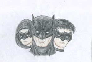 THE GOTHAM KNIGHTS DRAWING by Kongzilla2010