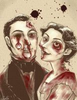 Dave and Angie as Zombies by QGildea