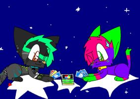 Play cards on Stars For Alice X3 by Blazeandkira