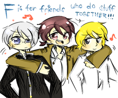 F is for friends.. by Amasunico