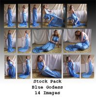 Stock Pack - Blue Goddess by Gracies-Stock