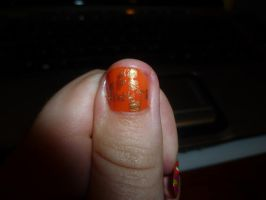 4Minutes Left Thumb Nail Art by kkmaree
