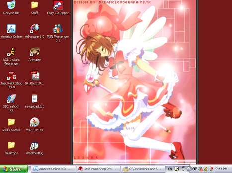 My Current Desktop Theme by dragonfire1722