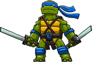Leonardo (Teenage Mutant Ninja Turtles) by Hologramzx