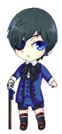 Ciel Phantomhive Chibi ANIMATED by RaionKoneko