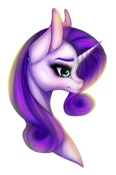 Rarity Portrait by TinyTeaDrinker
