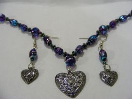 necklace-earring combo by MiracleElixer