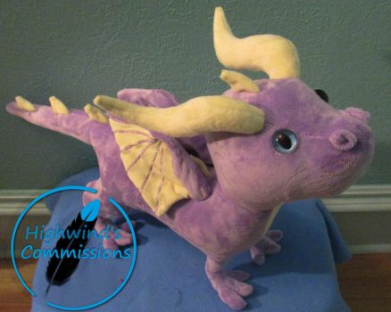 Dragon Plush commission by Highwinds2C