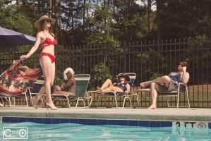 Pool days with the Xmen_2 by moshunman