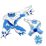 Froakie evolution line by roblee96