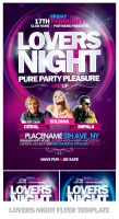 Lovers Night Flyer Template by EAMejia
