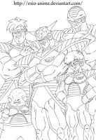 Ginyu Force - Lineart by Ezio-anime