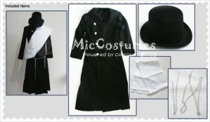 Black Butler Undertaker Cosplay Costume by miccostumes