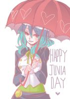 Happy Juvia Day by colored-sky