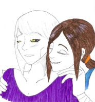 GLaDOS and Chell WIP by Footstepps45