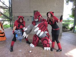 A-Kon 23: Team Magma and Groudon 2 by Inept-Evil-Genius