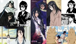 Byakuya and Rukia Wallpaper v2 - Collage by KittyKuchiki124
