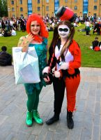 Poison Ivy and Harley Quinn by ZeroKing2015