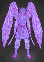 Sasuke Perfect Susano'o Armor by JMBfanart