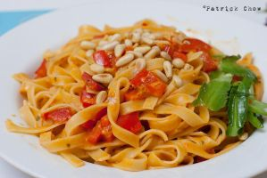 pesto tagliatelle by patchow