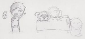 Sketch-Lust after a slow night by Enigma-Thirteen